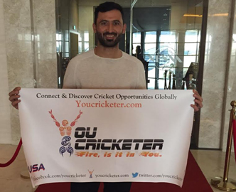 Junaid Khan (Pakistani Cricketer) Promoting YouCricketer